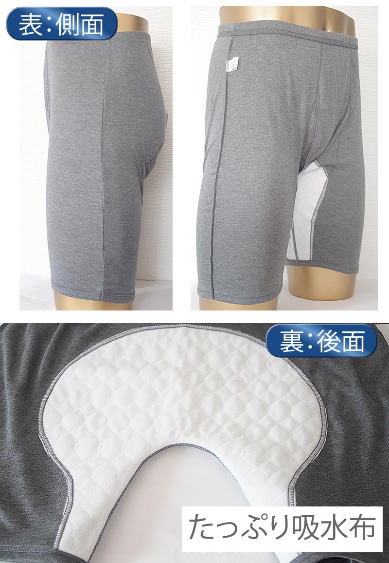 男性用尿漏れパンツ メンズサラ側面