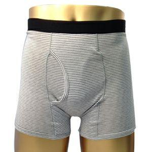 男性用失禁パンツ 吸水量5-10cc対応 ちょい漏れ吸水ボーダートランクス前