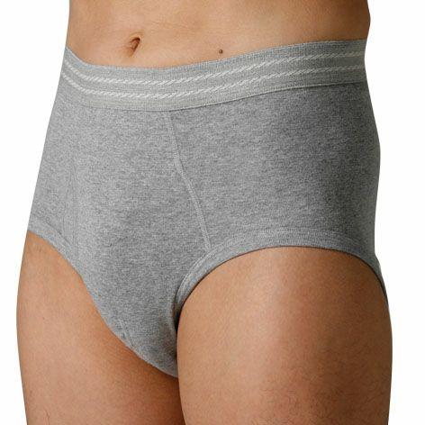 男性用失禁パンツ 尿漏れパンツグレー前