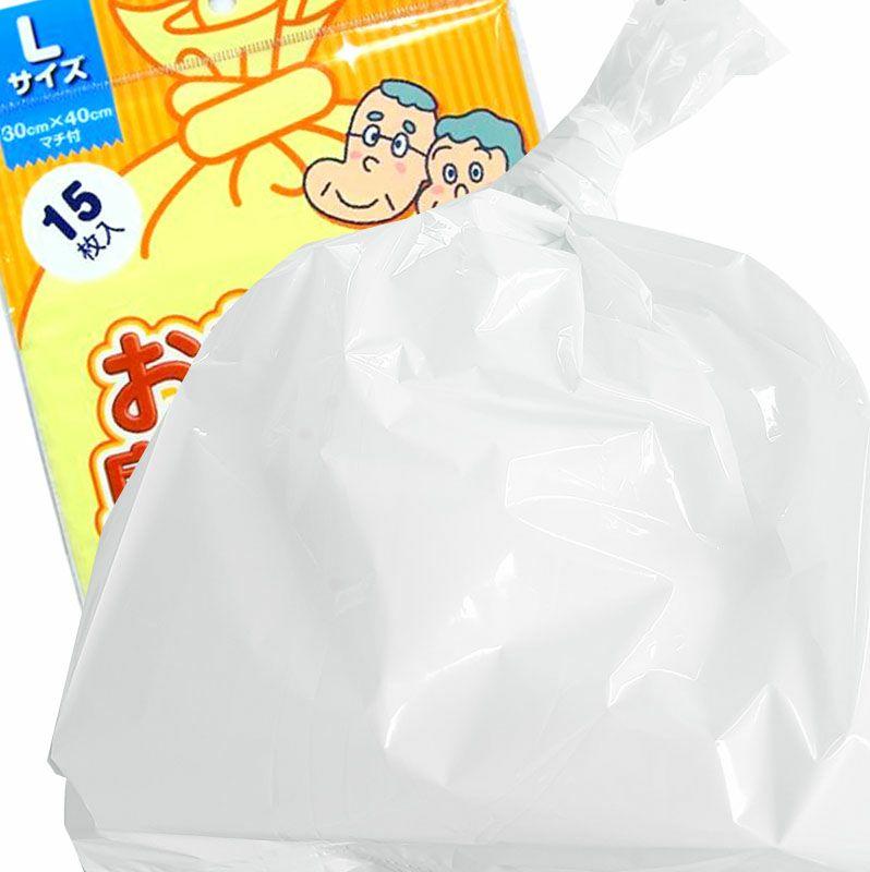 おむつが臭わない袋 BOS大人用 Lサイズ 15枚入×100袋白